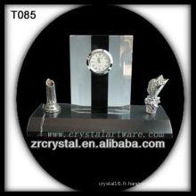 Magnifique horloge en cristal K9 T085