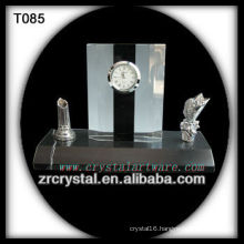 Wonderful K9 Crystal Clock T085