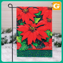 Custom made 12.5''X18'' fabric garden flag with steel stand