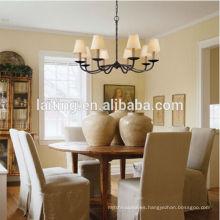 Iluminación colgante decorativa moderna Lámpara colgante de la lámpara del hierro labrado