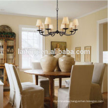 Modern Decorative Hanging Lighting Wrought Iron Chandelier Pendant Lamp