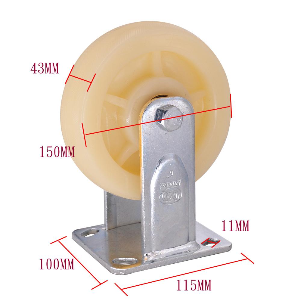 6 Inch Pp Caster Wheel Rigid