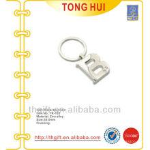 Custom B letter shape pendant keychains /clear stones