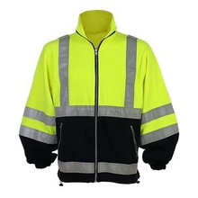 Winter Strip Yellow Safety Jacket