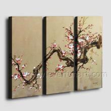 Pintura a óleo Handmade moderna da flor quadro na lona (FL3-140)