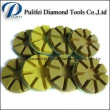 Mouiller à sec le meulage le tampon de polissage de plancher en béton de diamant de résine de 3 pouces