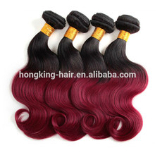 À la mode New Premium deux tons coudre dans les cheveux humains armure ombre cheveux