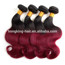 Fashionable New Premium two tone sew in human hair weave ombre hair