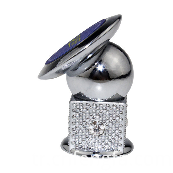 Square Magnetic Phone Holder With Diamond Silver