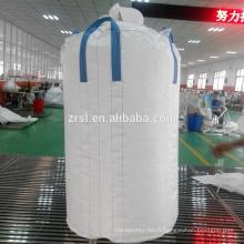 sacs en vrac en gros, sac jumbo avec de grands sacs de haute qualité 1000kg pour le sac de récipient en vrac de charbon de bois de pp