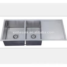 Edelstahl-Quadrat Undermount Küche Handmade Sink für amerikanische Küche