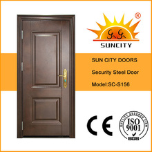 Turkish Market Popular Powder Coating Metal Steel Door (SC-S156)