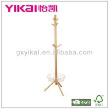 Soporte funcional de madera maciza Valet Stand