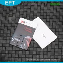 Kundenspezifische Logo Bulk Wasserdichte Kreditkarte USB-Stick für kostenlose Probe