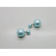 Duas bolas simples brinco Coreia Design moda joias