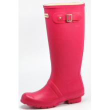 Dark Pink Women's Hunter Rubber Rain Boots
