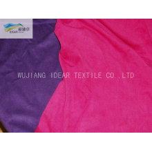 75DX180D tecido de Micro camurça de poliéster trama para têxteis-lar