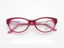 Fashion Acetate Branded Optical Frames , Burgundy With Pink Frame