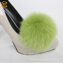 Acessórios de moda Fur Fur Pom Poms para sapatos de salto alto