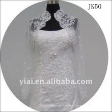 JK50 женщин из бисера с длинным рукавом свадебное куртка