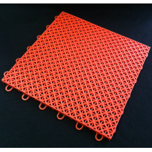 PP Interlocking DIY Sports Flooring Tiles Double Layer Orange