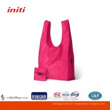 2015 Vente en gros sac à provisions pliable en nylon peu coûteux