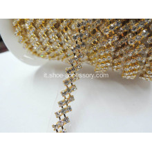 Strass Rotolo diamante Primo Cup strass catena
