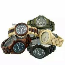 Melhor movimento de Japão dos relógios de madeira impermeáveis dos senhores