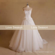 MRY076 Bonned top ball gown suzhou wedding dress corset bodice wedding dress with lace wedding dress with lace detachable train