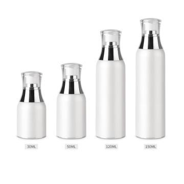 Garrafa de bomba de garrafa de vácuo branco acrílico
