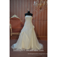 IN STOCK Off The Shoulder wedding dress sleeveless floor-length bridal dresses SW46