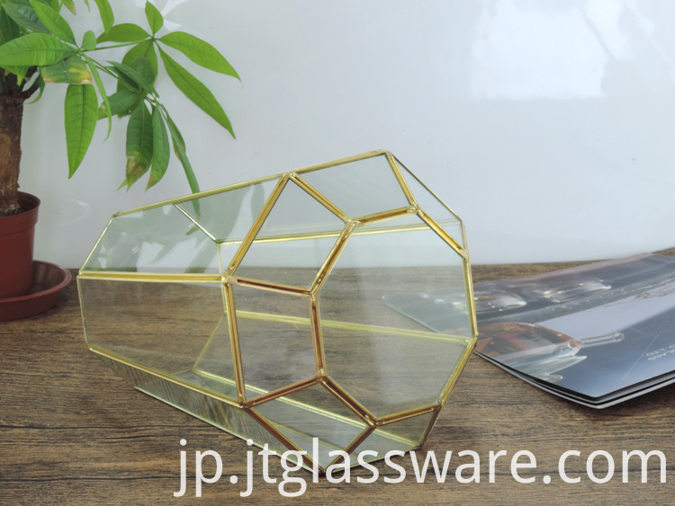 Home decoration Glass Geometric Terrarium 4