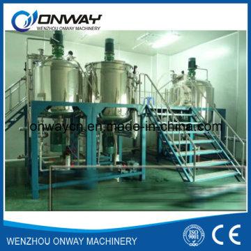 Pl Stainless Steel Jacket Emulsificación Mezclador Tanque Mezclador de aceite Mezclador Mezclador de mezcla de calefacción eléctrica