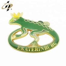 Presente de promoção personalizado metal ouro animal gecko epoxy lapela pin