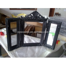 Victoria Charming Coloured Rectangle Wood Frame Silver Mirror Frame