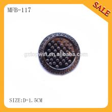 MFB117 Redonda decorativa imprensa metal jeans botão, spray botão de pressão de pintura para jeans
