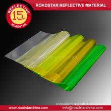 Prismatique feuille de PVC réfléchissante haute visibilité