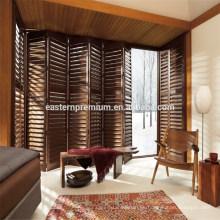 Puertas de persiana plegables de cedro rojo de calidad superior