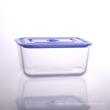 Grande boîte de rangement en verre avec capacité de 102 oz