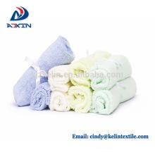 China fornecimento de fábrica de fibra de bambu baby washcloths branco super macio