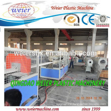 Conical double screw extruder machinery for PVC pipe making