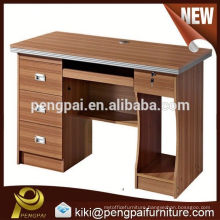 Modern office wooden melamine computer desk with drawer
