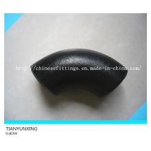 Coude à tubes en acier au carbone à 90 degrés sans rayons à rayon long