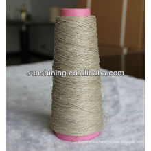 100% natural and semi-bleached linen yarn