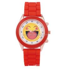 Silicon strap unisex watch metal case sport watch