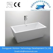 Modern acrylic rectangular bathtub