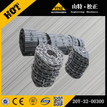 PC200-8 excavator track chain track link assy 20Y-32-00300