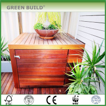 Red color distressed Anti-slip merbau hardwood garden decking