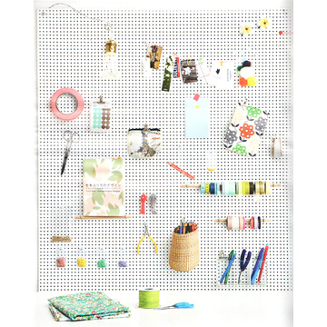 Iron Pegboard DIY Storage Rack