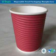 Isolierte Kräuselung Hot Cup, 12-Unzen Kapazität